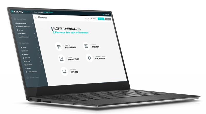 Eskale a créé une Application Web pour éditer des sites internet pour les hôtels
