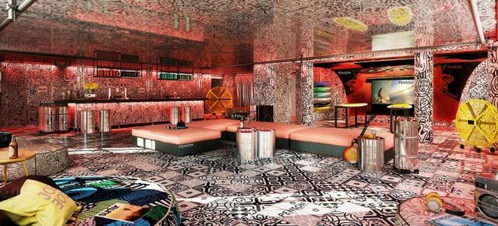 Le bar tendance du nouveau Jo&Joe d'AccorHotels récemment ouvert à Hossegor
