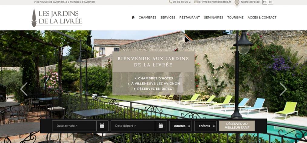 Exemple de Création de Site Internet pour Chambres d'Hôtes et Maisons d'Hôtes