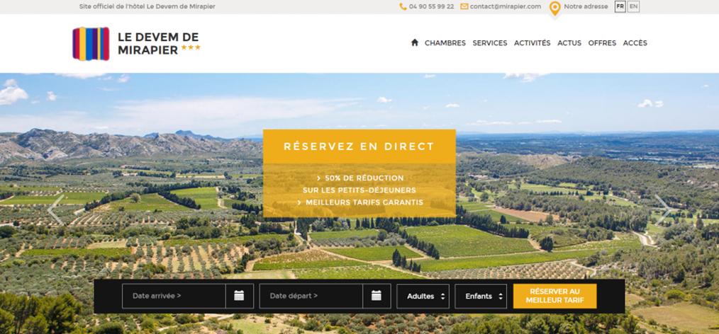 Exemple de Création de Site Internet pour un Hôtel 3 étoiles