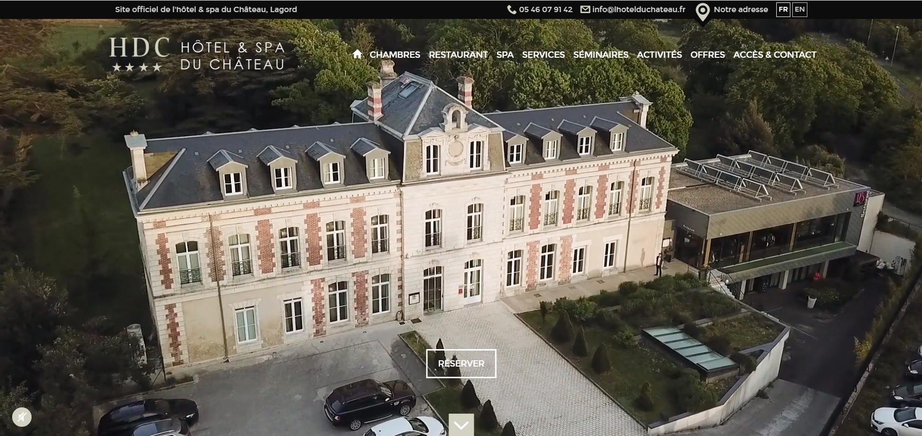 Exemple de Création d'un Site Internet d'un hôtel Spa 4 étoiles par l'agence web Eskale